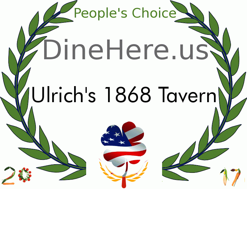 Ulrich's 1868 Tavern DineHere.us 2017 Award Winner